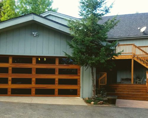 CHI Planks Cedar with whole door tinted glass